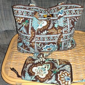Vera Bradley purse and wallet set